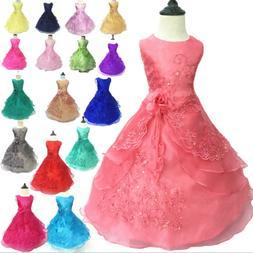 Kids Flower Girl Princess Dress for Girls Party Wedding Brid