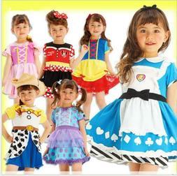 Kids Girls Baby Disney Princess Dress Halloween Party Cospla