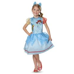 Kids Girls Classic My Little Pony Rainbow Dash Halloween Cos