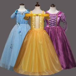 Kids Girls Princess Costume Christmas Halloween Cosplay Part