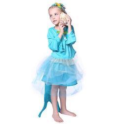 Kids Girls Mermaid Siren Princess Party Fairytale Fishtail F