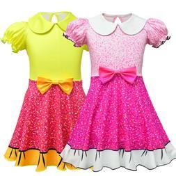 Kids Girls Princess Party Dress Halloween Christmas Dress Xm