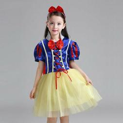 Kids Girls Snow White Cosplay Costume Princess Party Fancy D