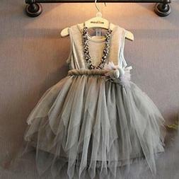 Kids Girls Toddler Baby Princess Dress Pageant Wedding Party