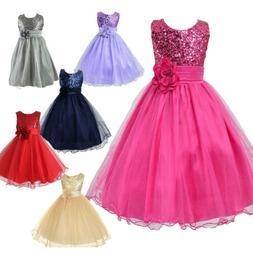 kids toddler party sequin dress flower girls