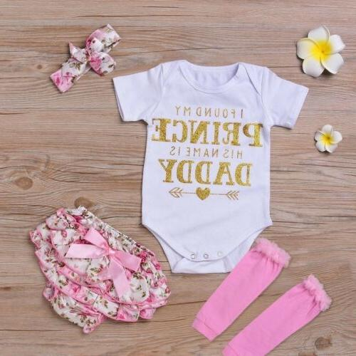 4PCS Baby Girl Clothes Bodysuit+Tutu Set