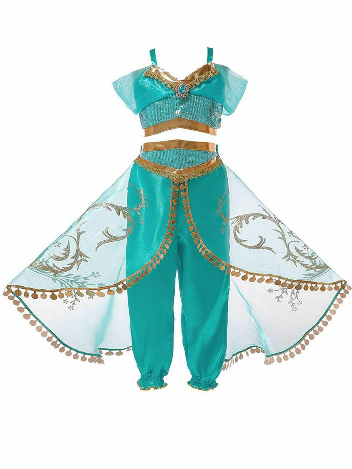 Aladdin Jasmine Princess Baby Kid Girl Dress Sets