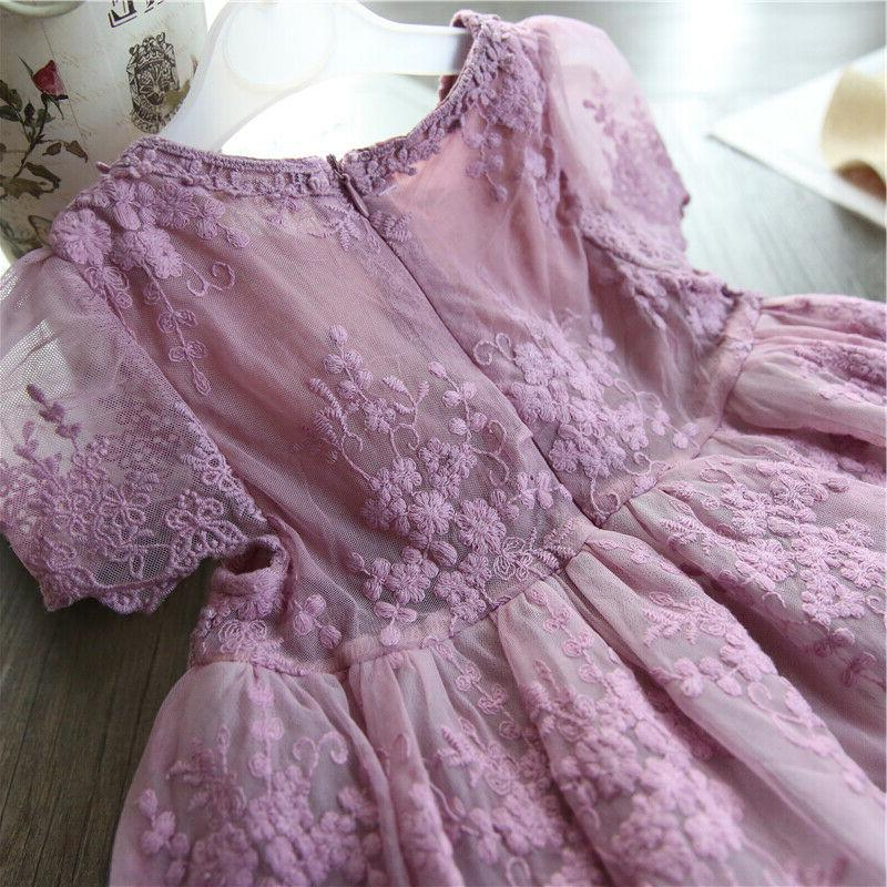 Baby Lace Embroidery Princess Purple Clothes