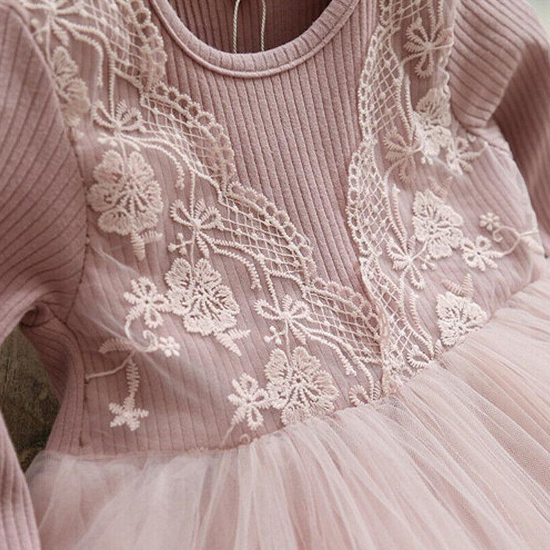 Baby Lace Princess Party Dresses Winter