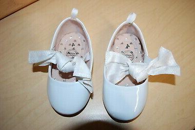 baby girls dress shoes white shiny mary