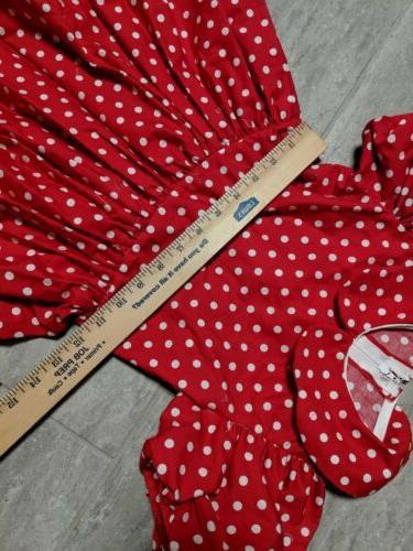 Disneys Mouse dress, hearts , handmade