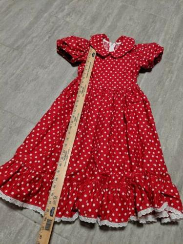 Disneys Mouse size 6 dress, hearts cherries handmade