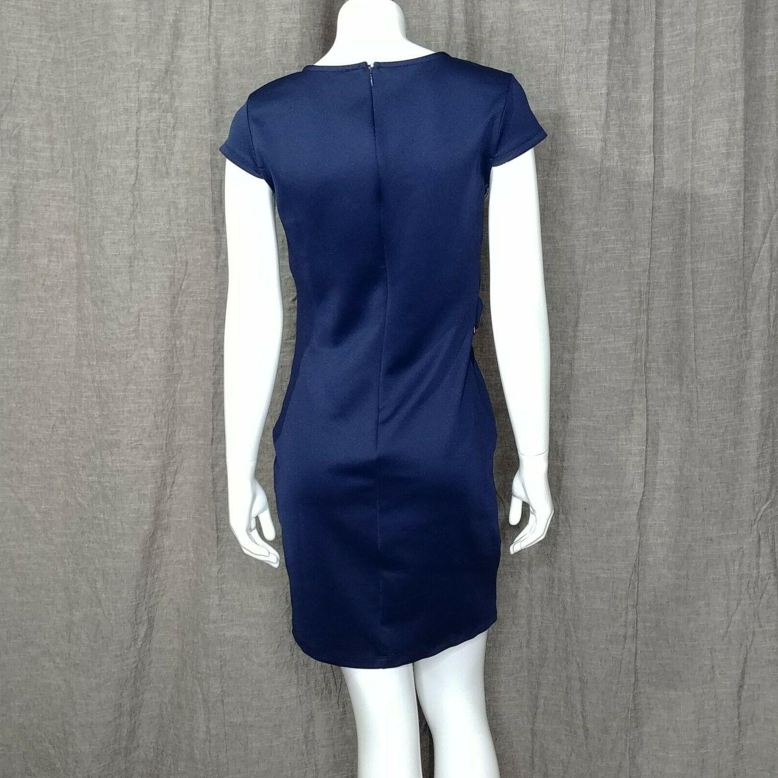 Venus Dress Trim Bodycon Dress Size Navy