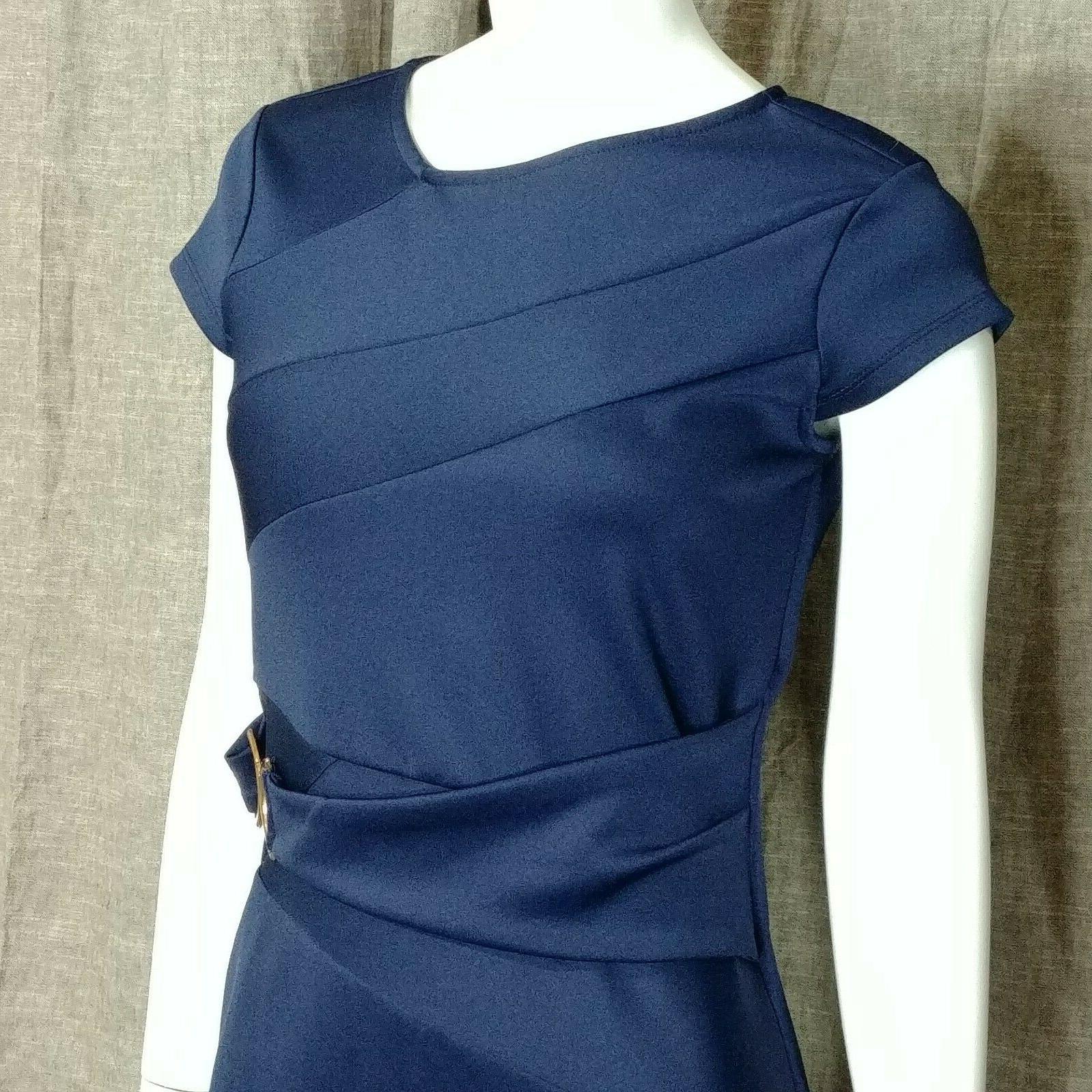 Venus Detail Bodycon Dress Navy Color