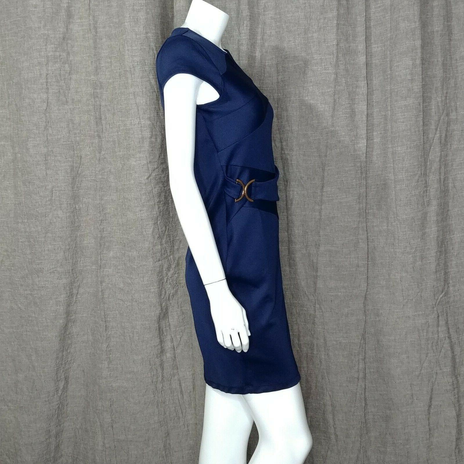Venus Dress Trim Detail Bodycon Size Navy Blue