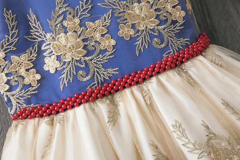 Elegant Girl Dress Baby Birthday Wedding Gown