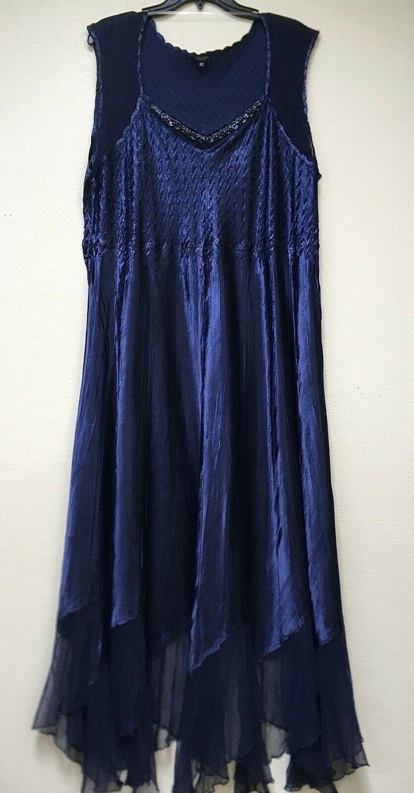 Komarov Embellished Chiffon Dress With Plus