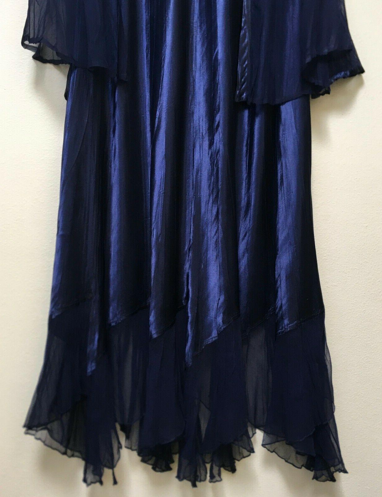 Komarov Embellished Chiffon Dress Plus