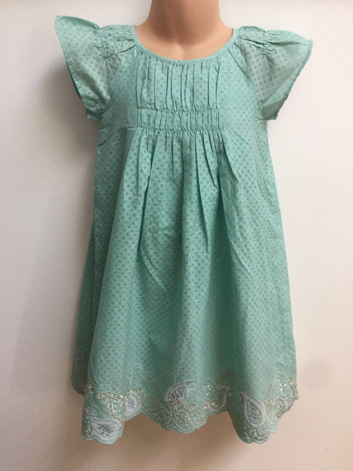 ex girl green spotty dress for girls