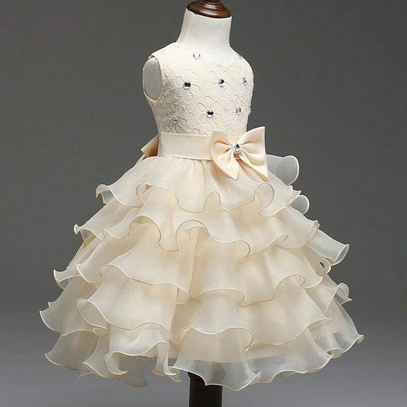 Baby Princess Bow Dress Wedding Bridesmaid Party