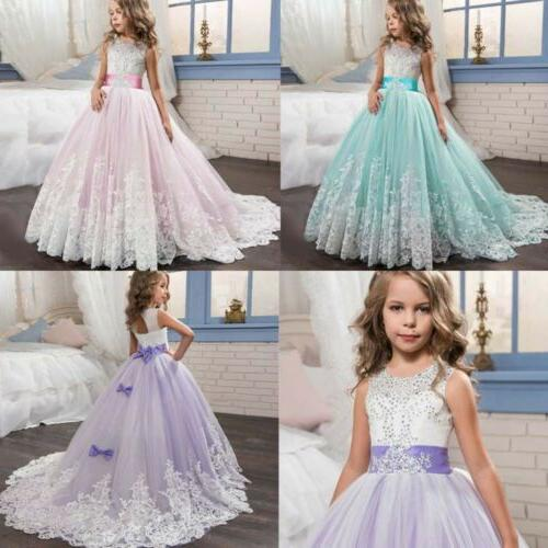 Flower Girl Embroidery Gown for Dress