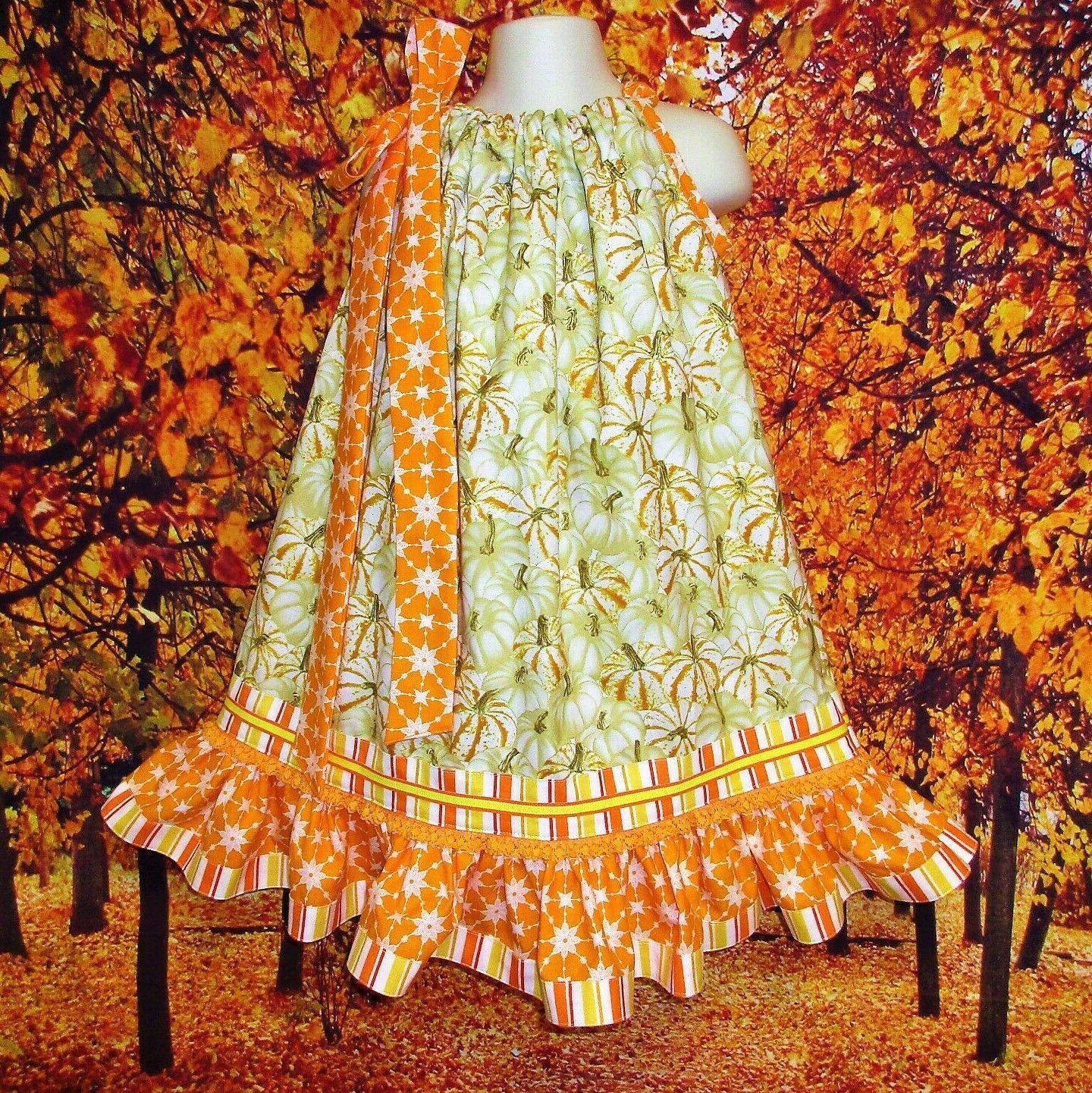 girl dress 4t 5 fall sparkle pumpkins