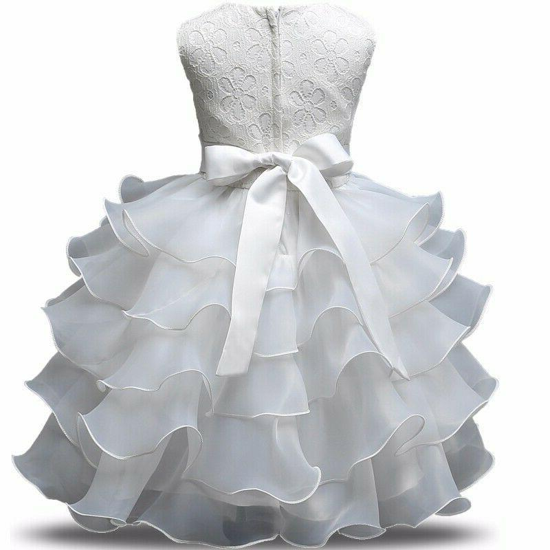 Girl Flower Party Gown Clothes
