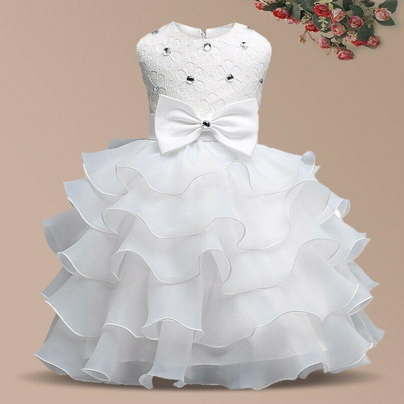 girl princess flower girl party dress wedding