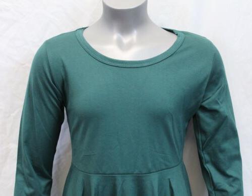 Sleeve Dress Green 130