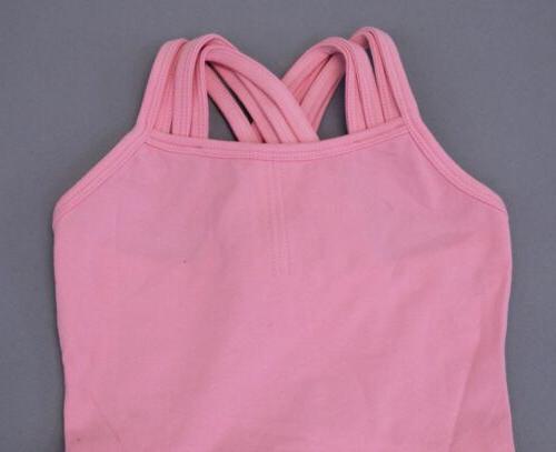 Arshiner Girl's Solid Sleeveless Square Neck Skater Dress SH3 Pink NWT