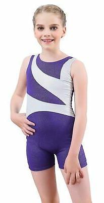 Dancina Girls Gymnastics Leotard Tank Biketard and Shorts Ne