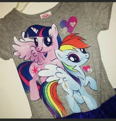 Girl's Pony Rainbow With TuTu SzS 6-6x
