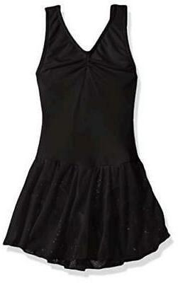 Capezio Girls' Toddler Pinch Front Tank Dress, Black,, Black