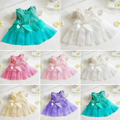 Girls Flower Baby Lace Party Gown