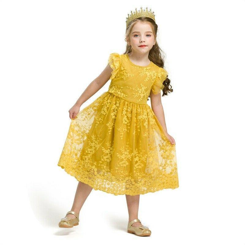 Kids Baby Girl Dress Birhtday Party Tutu Summer Years