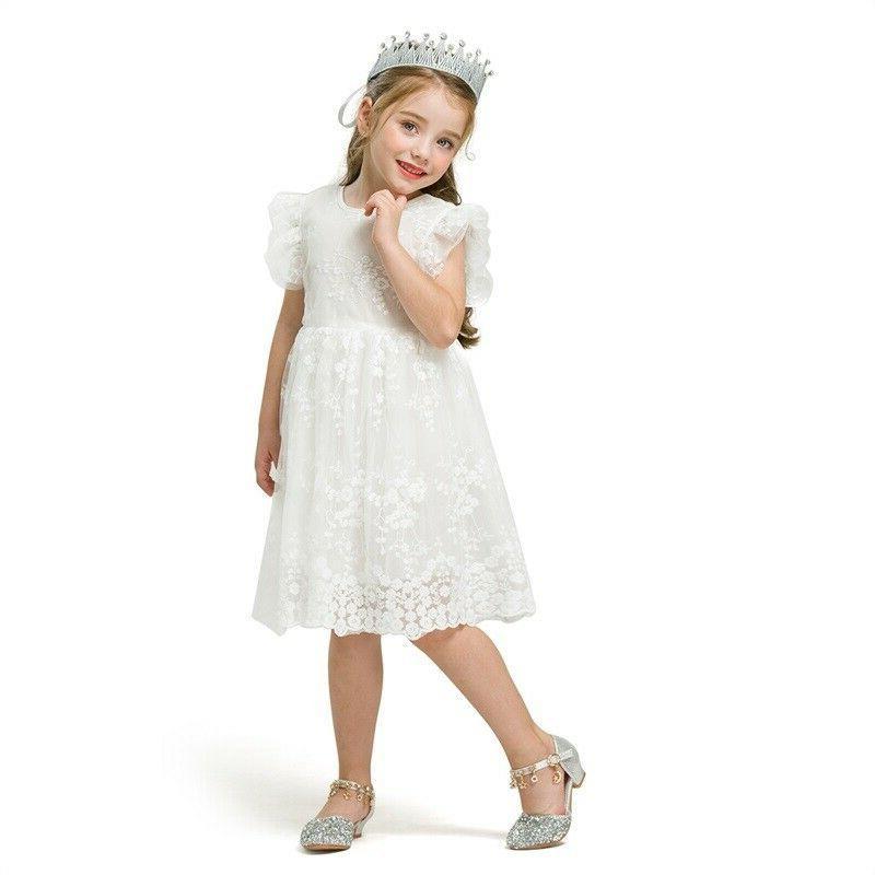 Kids Dress Birhtday Party Lace Princess Tutu Years