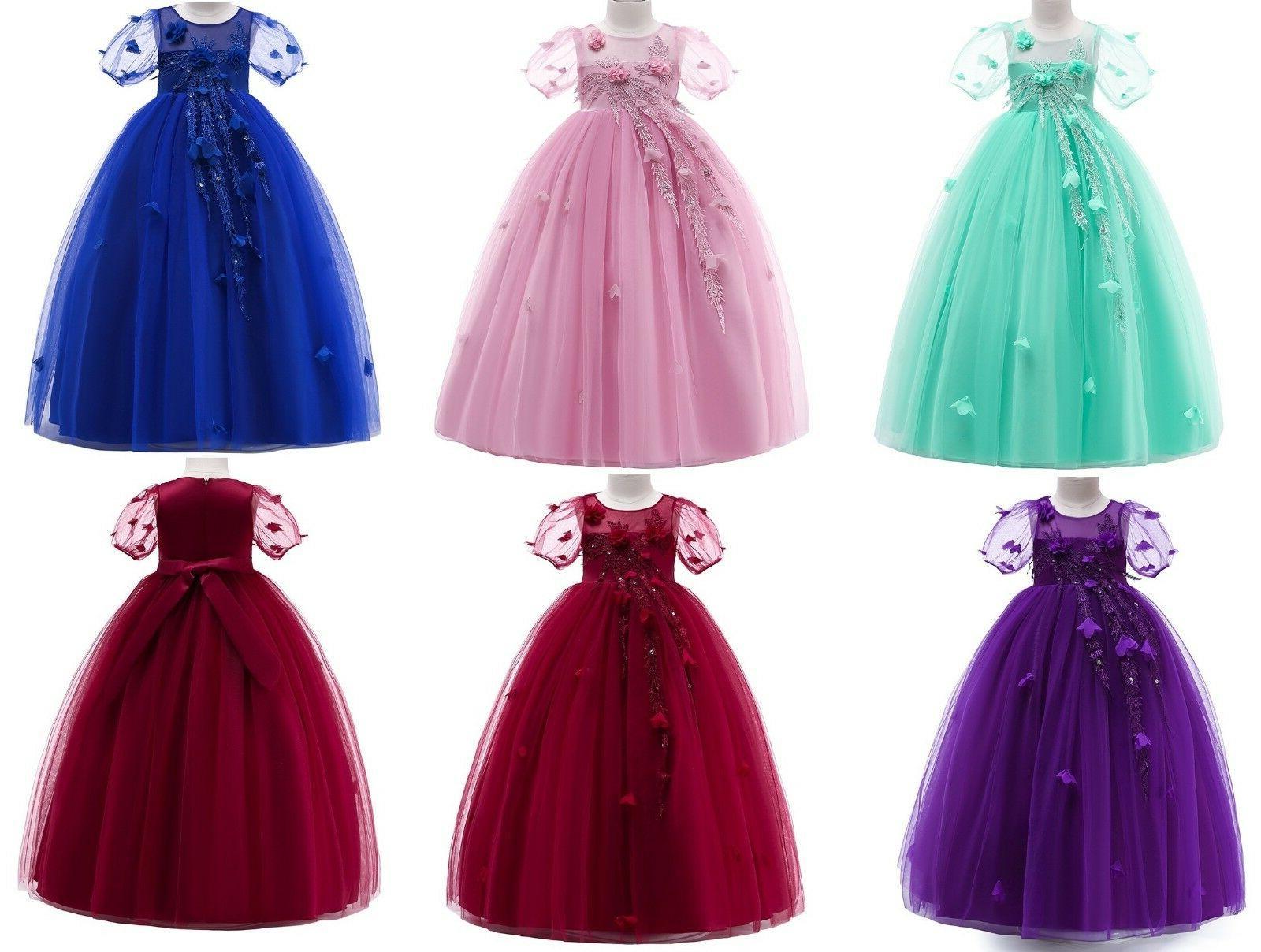 kids flower girl princess dress for girls