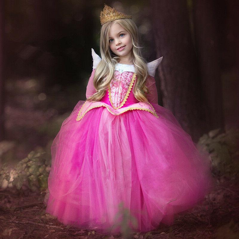 Kids Girls Princess Costume Christmas Halloween Party