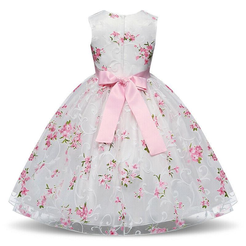 Kids Princess Baby Party Prom Gown Wedding Flower Dress
