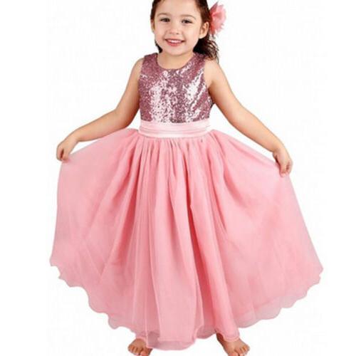 Kids Party Dress Bridesmaid Princess