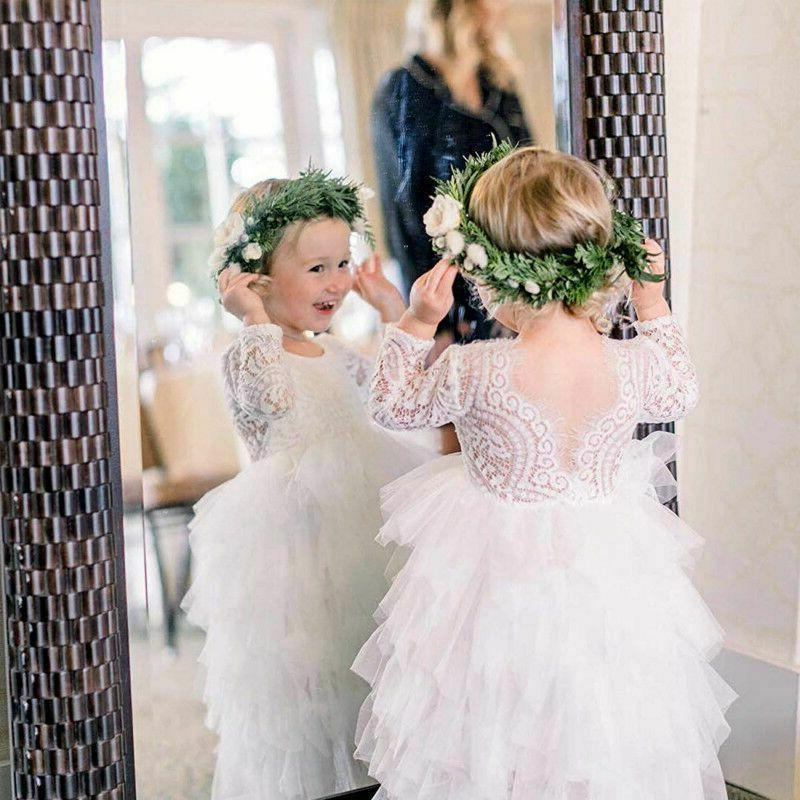 Lace Flower Baby Kids Birthday Princess Wedding