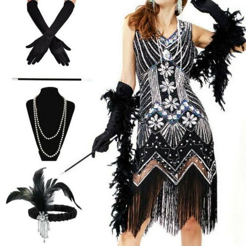 ladies gatsby fancy dress accessories flapper 20