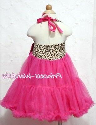 Leopard Print Pink ONE-PIECE Petti Tutu Pettiskirt Girl 2-8Y