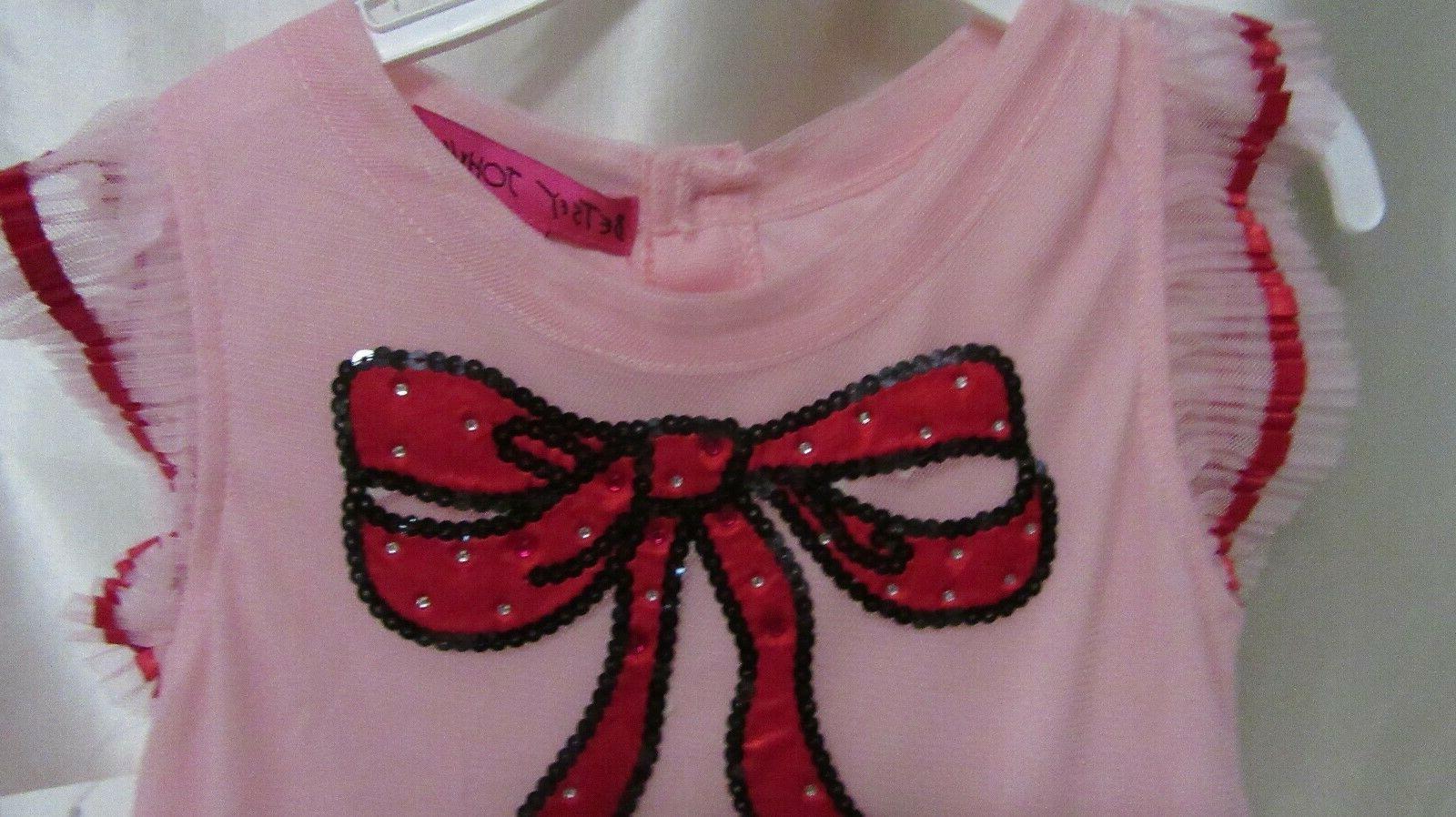 LITTLE JOHNSON PARTY DRESS SIZE 3T NEW /W T PINK W RUFFLES