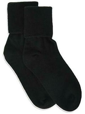 Jefferies Socks Little Girls' Seamless Turn Cuff Socks  Burg