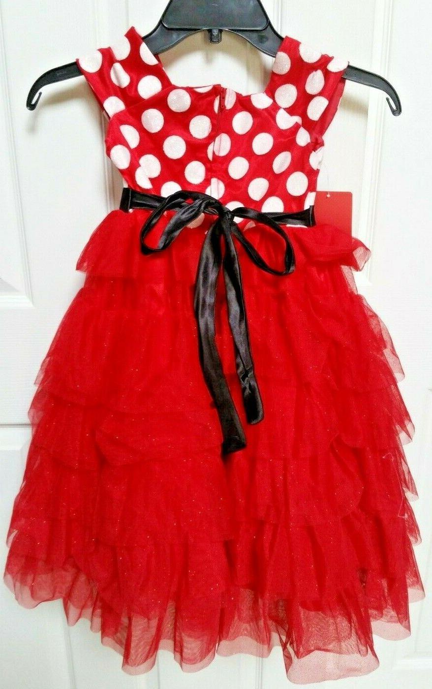 Girl's Red With Polka