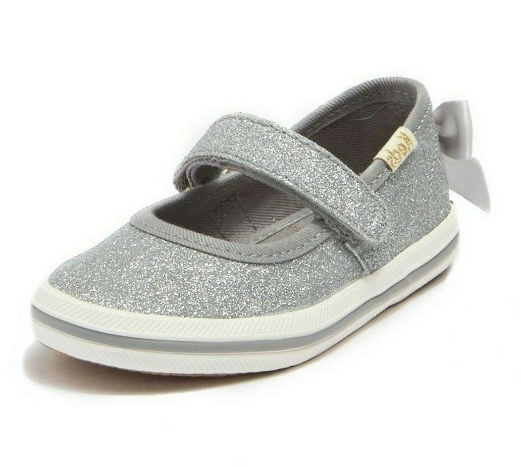 NEW x spade Girls Sloane MJ Glitter Sneakers Kids 11.5 M