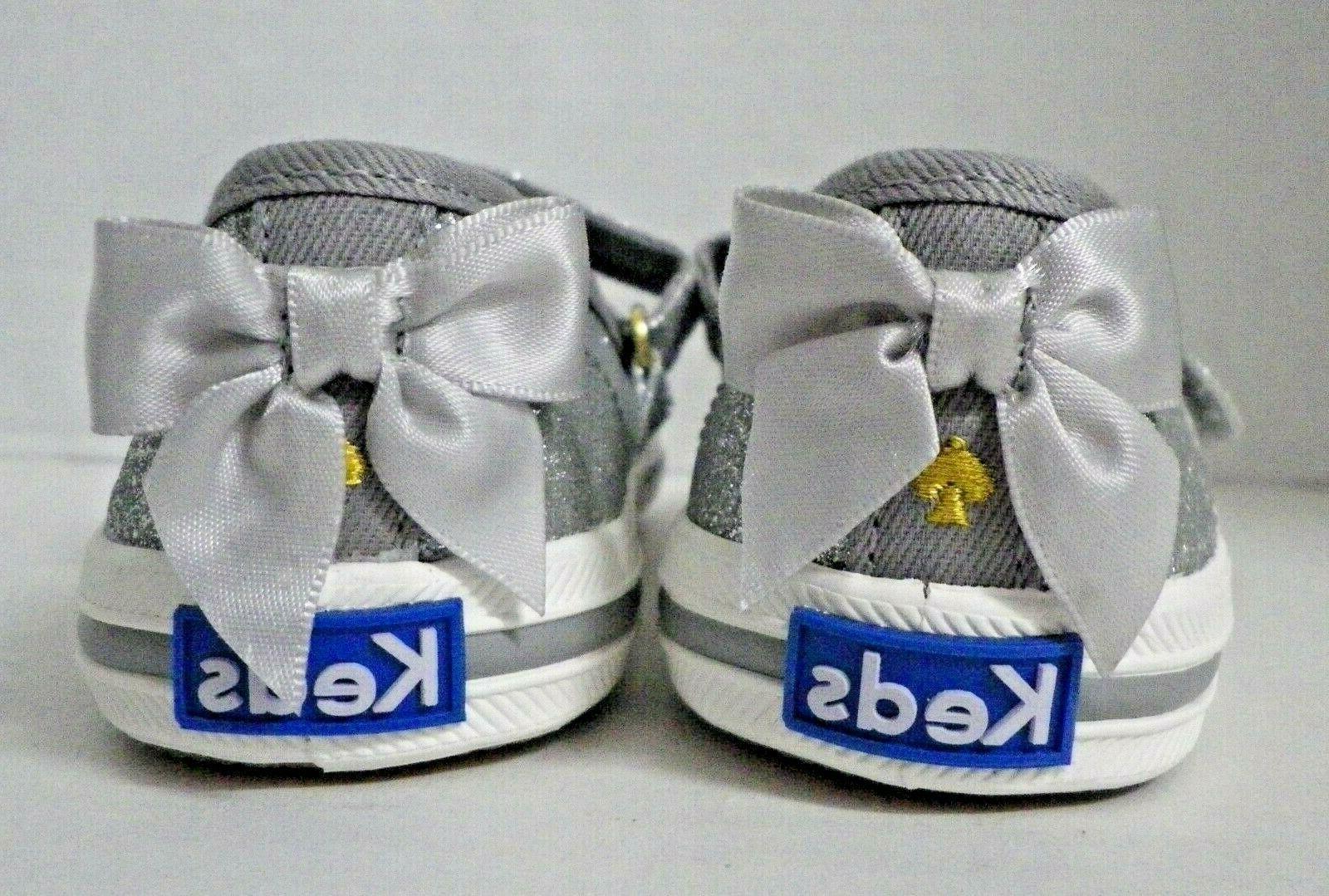 NEW Keds Glitter Sneakers Silver Little Kids 11.5