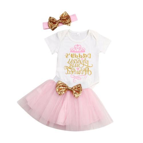 Newborn Baby Wedding Party Romper Skirt Dress Fashion