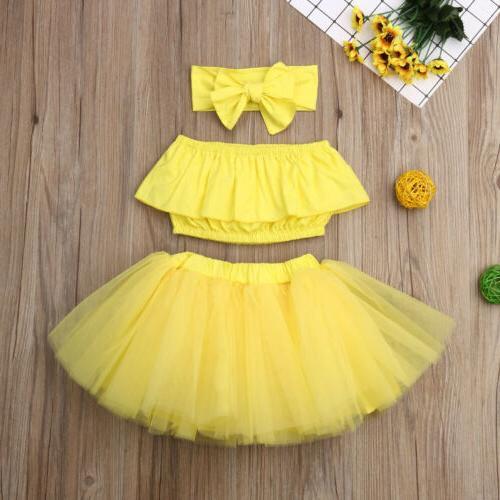 Newborn Clothes Ruffle Tube Tutu Skirt Outfits Set